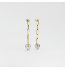 zag-bijoux-boucles d'oreilles-acier-nacre-doré-bijoux totem.