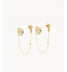 zag-bijoux-piombo-boucles d'oreilles-acier-doré-bijoux totem.