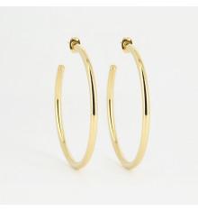 zag-bijoux-aliénora-créoles-acier-doré-bijoux totem.