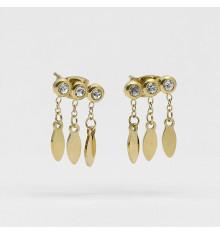 zag-bijoux-navajo-boucles d'oreilles-acier-doré-bijoux totem.