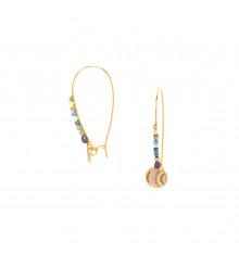 franck herval-jahia-dormeuses-crochet perlé-bijoux totem.