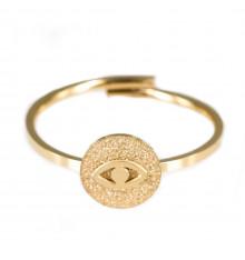 zag-bijoux-horus-bague-acier-doré-bijoux totem.