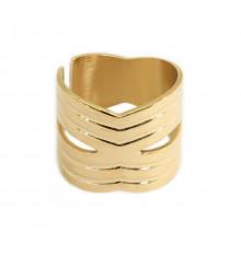 zag-bijoux-bague-acier-doré-bijoux totem.