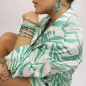 Un magnifique dégradé de vert pour le printemps ! Barong Barong bijoux en vente sur https://bijoux-totem.fr/10659-barong-barong   #earrings #bangle #jewellery #girl #bracelet #green #jewelryaddict #womenstyle#newcollection #present #sunshine #bijoux totem