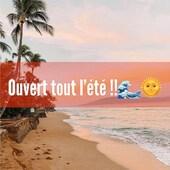 Ouvert cet été ! 🌴  Du mardi au samedi de 10h à 12h30 et de 14h à 19h.  #summer #vacances #boutique #shopping